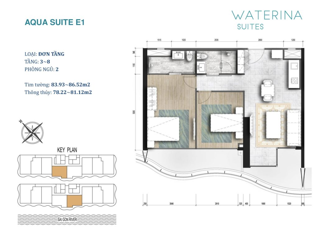 mat bang can ho waterina suites E1