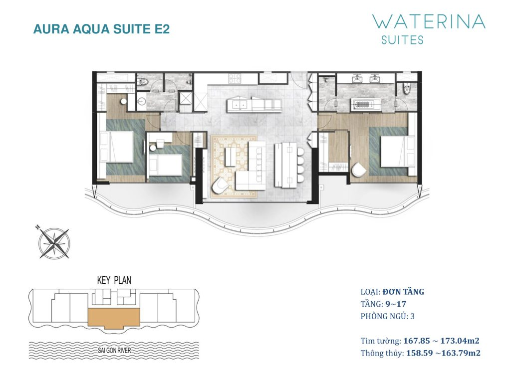 mat bang can ho waterina suites E2